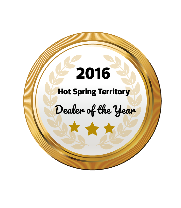 2016 HotSpring Territory Dealer of the Year