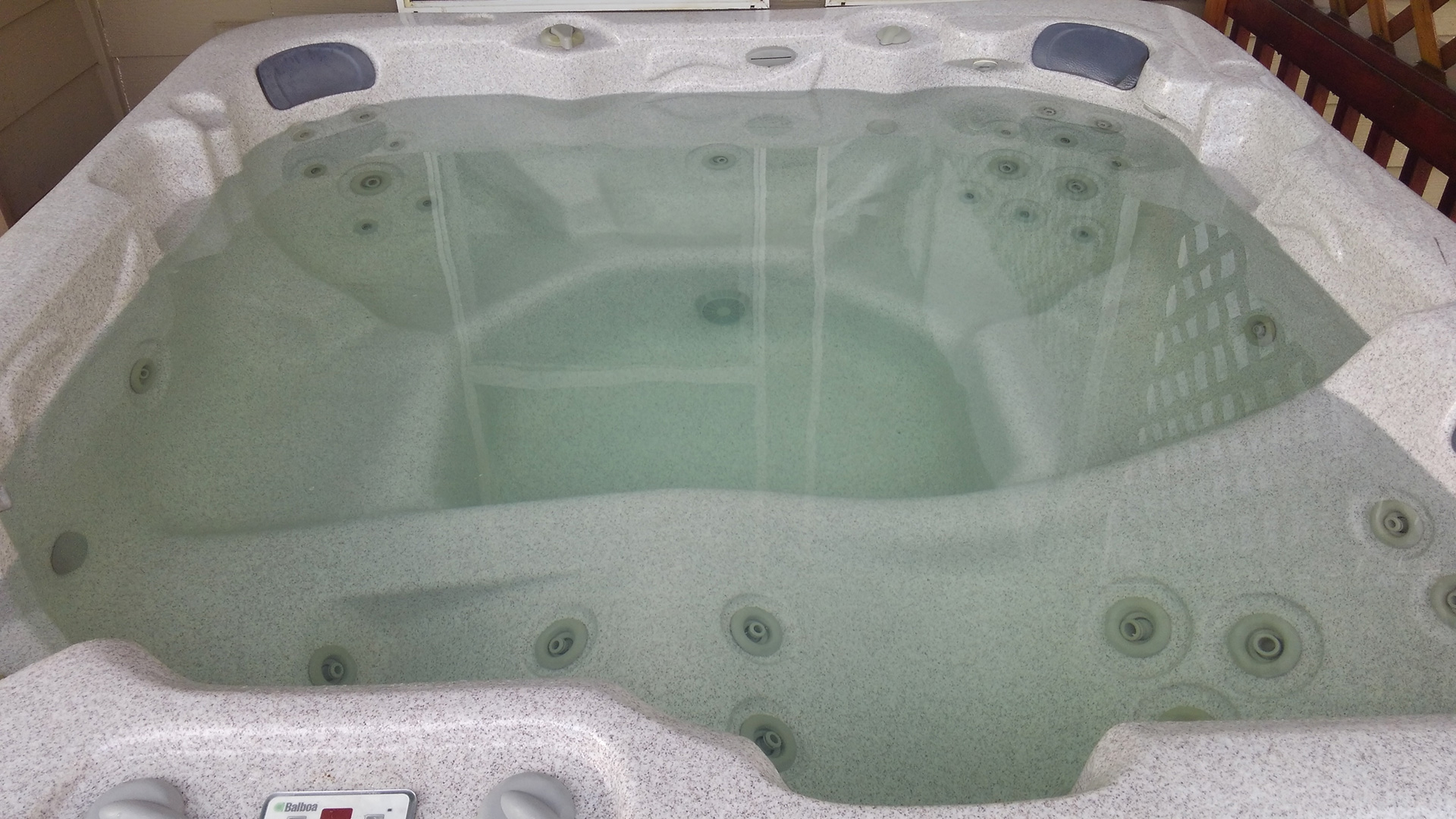 Before Hot Tub Cleaning by AllSpa